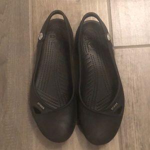 Women's Black Crocs Sling-backs Size 9